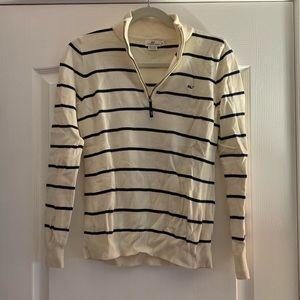 Vineyard Vines striped quarter zip sweater